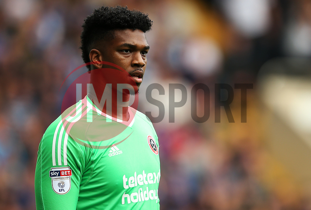 Jamal Blackman of Sheffield United - Mandatory by-line:  Matt McNulty/JMP - 24/09/2017 - FOOTBALL - Hillsborough - Sheffield, England - Sheffield Wednesday v Sheffield United - Sky Bet Championship