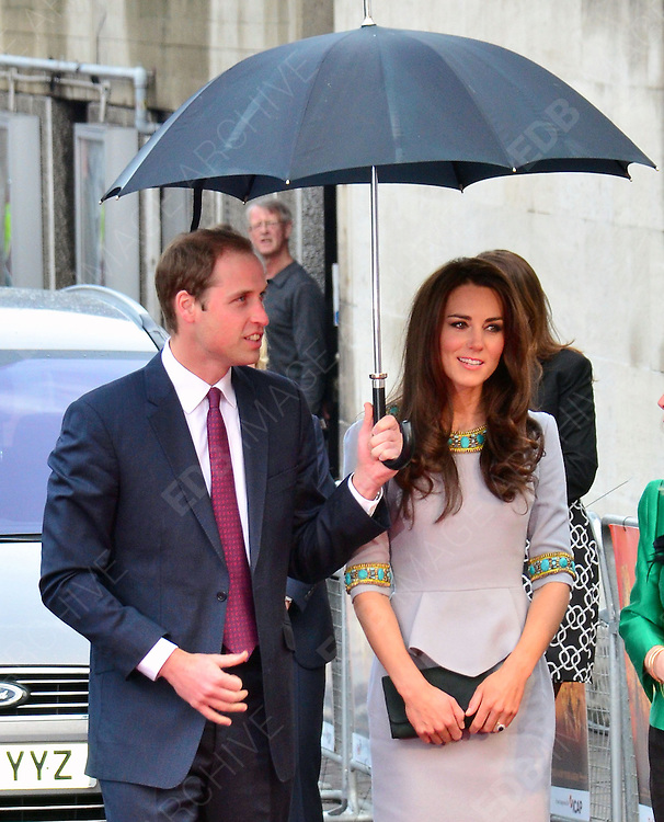 25.APRIL.2012. LONDON<br /> <br /> KATE AND WILLIAM ATTEND AFRICAN CATS PREMIERE AT BFI IN LONDON<br /> <br /> BYLINE: EDBIMAGEARCHIVE.COM<br /> <br /> *THIS IMAGE IS STRICTLY FOR UK NEWSPAPERS AND MAGAZINES ONLY*<br /> *FOR WORLD WIDE SALES AND WEB USE PLEASE CONTACT EDBIMAGEARCHIVE - 0208 954 5968*