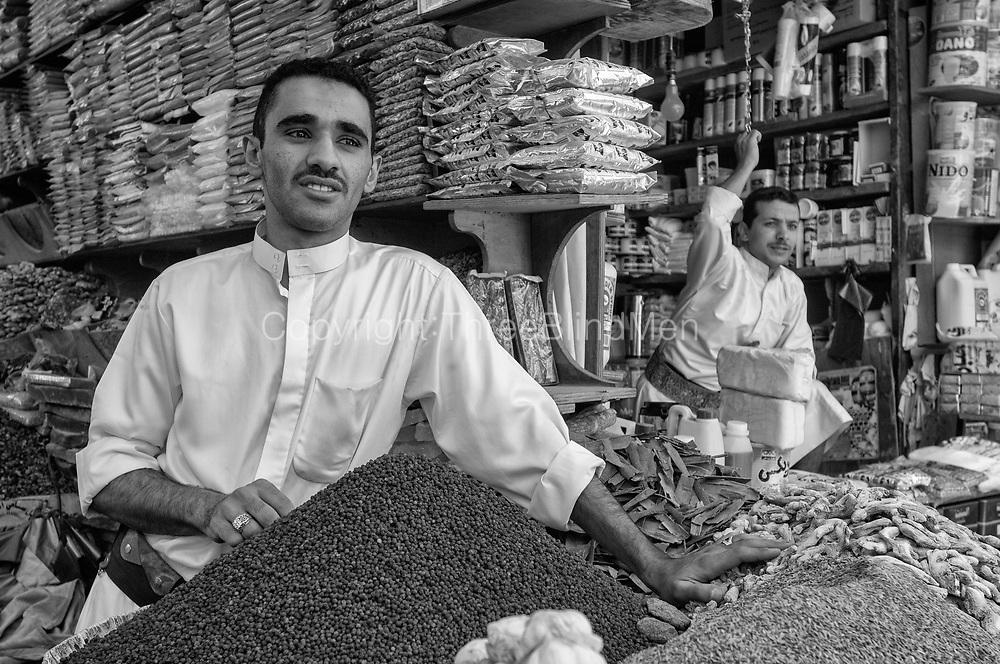 Yemen. <br />Souk al-Milh, Old City of Sana&rsquo;a.<br />2007