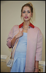 Peaches Geldof attends Vivienne Westwood Autumn / Winter at London Fashion Week, Sunday February 17, 2013. Photo by Andrew Parsons / i-Images<br /> File photo - Peaches Geldof  died of heroin overdose coroner rules today Wednesday 23rd July 2014.