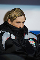 PORTSMOUTH, ENGLAND - Saturday, February 7, 2009: Liverpool's substitute Fernando Torres during the Premiership match against Portsmouth at Fratton Park. (Mandatory credit: David Rawcliffe/Propaganda)