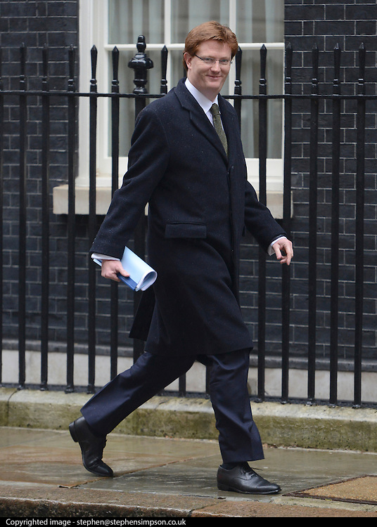 © Licensed to London News Pictures. 12/06/2012. Westminster, UK Chief Secretary to the Treasury DANNY ALEXANDER. Politicians on Downing Street today 12 June 2012. Photo credit : Stephen Simpson/LNP