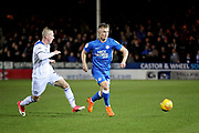 Peterborough Utd's Kyle Dempsey (30) on the ball during the EFL Sky Bet League 1 match between Peterborough United and Rochdale at London Road, Peterborough, England on 12 January 2019.