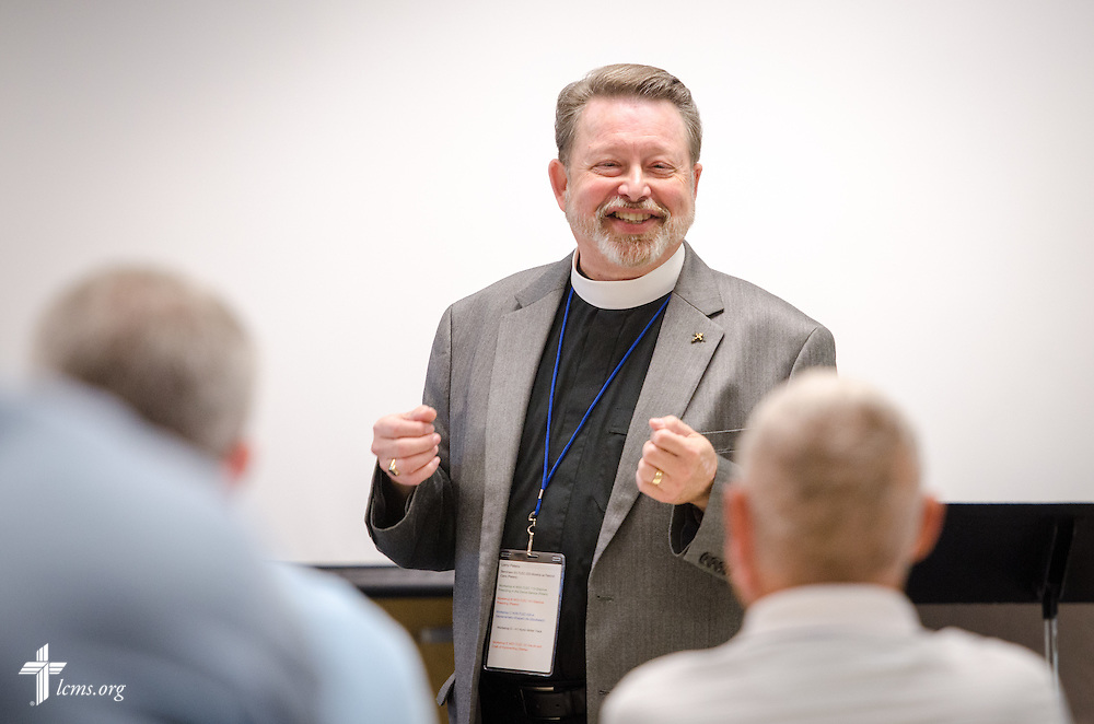 The Rev. Larry Peters, a writer and member of the LCMS Commission on Constitutional Matters, leads a workshop class at the 2014 Institute on Liturgy, Preaching and Church Music on Tuesday, July 29, 2014, at Concordia University, Nebraska, in Seward, Neb. LCMS Communications/Erik M. Lunsford