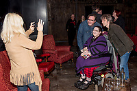 """Mark Benton with fans at the brand new BBC Daytime drama Shakespeare & Hathaway – Private Investigators, is due to hit TV screens late February, 150 lucky people got the chance to view a private screening of the first episode.<br /> On Friday 9 February, The Other Place in Stratford-upon-Avon, an actual location featured in the drama, the venue to held the screening and, a special question and answer session hosted by Midlands Today presenter Rebecca Wood. She was joined by Jo Joyner, Mark Benton, Patrick Walshe McBride and the show's producer Ella Kelly.<br /> The ten-part drama from BBC Studios, created by Paul Matthew Thompson and Jude Tindall, will see Frank Hathaway (Benton), a hardboiled private investigator, and his rookie sidekick Luella Shakespeare (Joyner), form the unlikeliest of partnerships as they investigate the secrets of rural Warwickshire's residents.<br /> Beneath the picturesque charm lies a hotbed of mystery and intrigue: extramarital affairs, celebrity stalkers, missing police informants, care home saboteurs, rural rednecks and murderous magicians. They disagree on almost everything, yet somehow, together, they make a surprisingly effective team – although they would never admit it.<br /> Will Trotter, head of BBC Daytime Drama at the BBC Drama Village, comments, """"For years we have been producing quality drama at the BBC Drama Village, and Shakespeare & Hathaway is no different. It's the perfect programme to indulge in, and like many of the programmes that we make in Birmingham, we've been out and about in the county to film in some of the best locations the Midlands has to offer. <br /> """"We're looking forward to seeing the audience reactions to the first episode, it's got a whodunit storyline with a brilliant introduction to the main characters, but leaves you with some questions which makes the audience want to come back for more!"""" <br /> Notes to editors<br /> For more information on the series you can contact hollie.druce@bbc.co.uk. <br /> """
