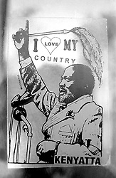 Mar 2, 2015 - Kenya - Jomo Kenyatta sticker in a window. Ikutha, Kitui, Kenya. After 15 years of rule by first president Jomo Kenyatta and after his death, Moi came to power in 1978 and remained until 2002. Widespread corruption in their government and completely dictatorial attitude has led the country to a great economic downturn. (Credit Image: © Sergi Reboredo/ZUMA Wire/ZUMAPRESS.com)