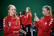 Warsaw, Poland - 2017 December 08: Tennis player Magdalena Frech and Paulina Czernik both from Poland while Photo Session of Fed Cup Team of Polish Tennis Association at Mera Tennis Club on December 08, 2017 in Warsaw, Poland.<br /> <br /> Mandatory credit:<br /> Photo by &copy; Adam Nurkiewicz / Mediasport<br /> <br /> Adam Nurkiewicz declares that he has no rights to the image of people at the photographs of his authorship.<br /> <br /> Picture also available in RAW (NEF) or TIFF format on special request.<br /> <br /> Any editorial, commercial or promotional use requires written permission from the author of image.