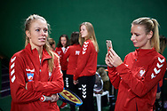 Warsaw, Poland - 2017 December 08: Tennis player Magdalena Frech and Paulina Czernik both from Poland while Photo Session of Fed Cup Team of Polish Tennis Association at Mera Tennis Club on December 08, 2017 in Warsaw, Poland.<br /> <br /> Mandatory credit:<br /> Photo by © Adam Nurkiewicz / Mediasport<br /> <br /> Adam Nurkiewicz declares that he has no rights to the image of people at the photographs of his authorship.<br /> <br /> Picture also available in RAW (NEF) or TIFF format on special request.<br /> <br /> Any editorial, commercial or promotional use requires written permission from the author of image.