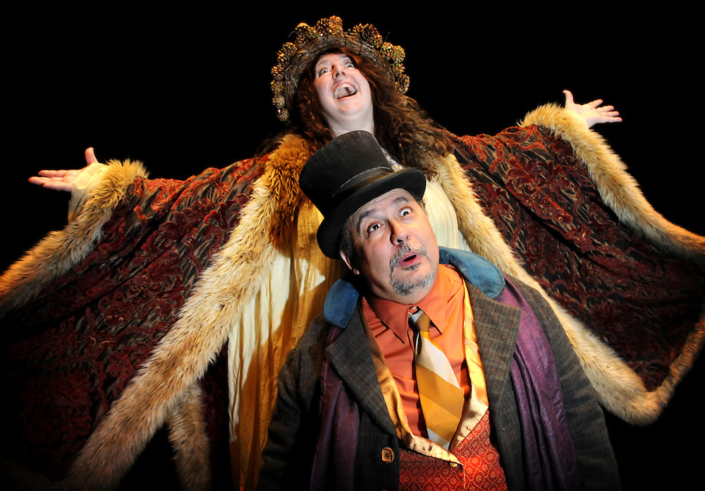 "Bag & Baggage's promotional images of ""A Christmas Carol"" in September 2009. (photo by Casey Campbell)"