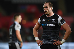 Alun Wyn Jones of Ospreys<br /> <br /> Photographer Craig Thomas/Replay Images<br /> <br /> Guinness PRO14 Round 11 - Ospreys v Scarlets - Saturday 22nd December 2018 - Liberty Stadium - Swansea<br /> <br /> World Copyright © Replay Images . All rights reserved. info@replayimages.co.uk - http://replayimages.co.uk