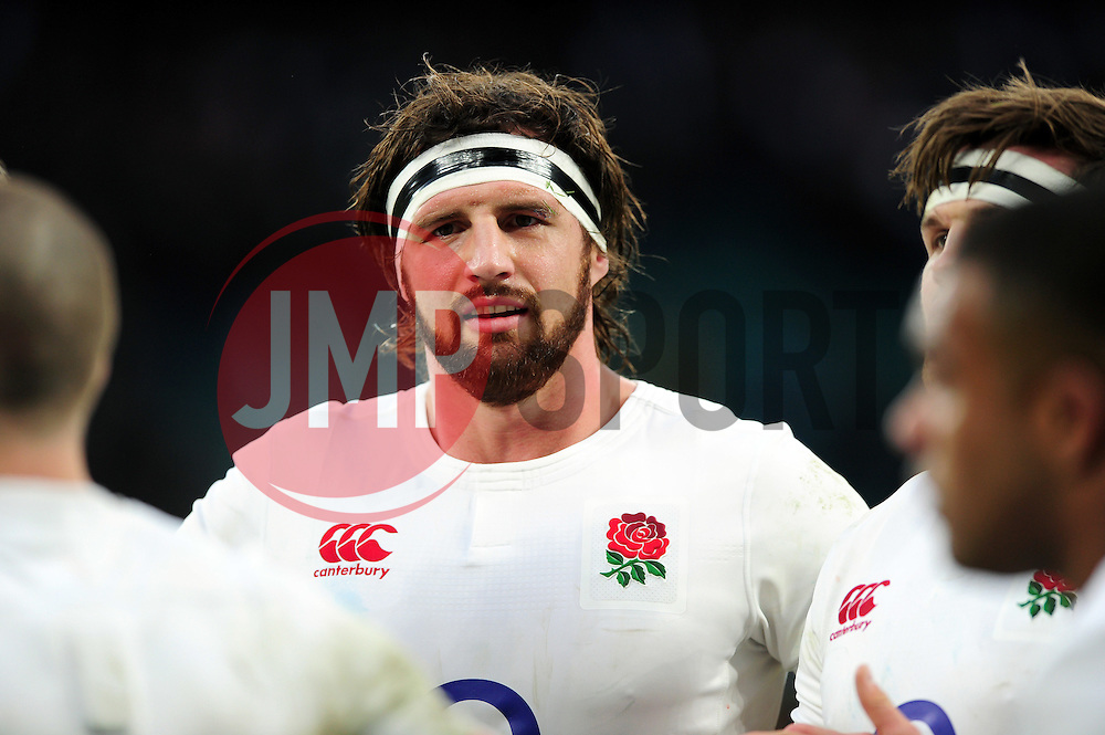 Tom Wood of England looks on after the match - Mandatory byline: Patrick Khachfe/JMP - 07966 386802 - 26/02/2017 - RUGBY UNION - Twickenham Stadium - London, England - England v Italy - RBS Six Nations Championship 2017.
