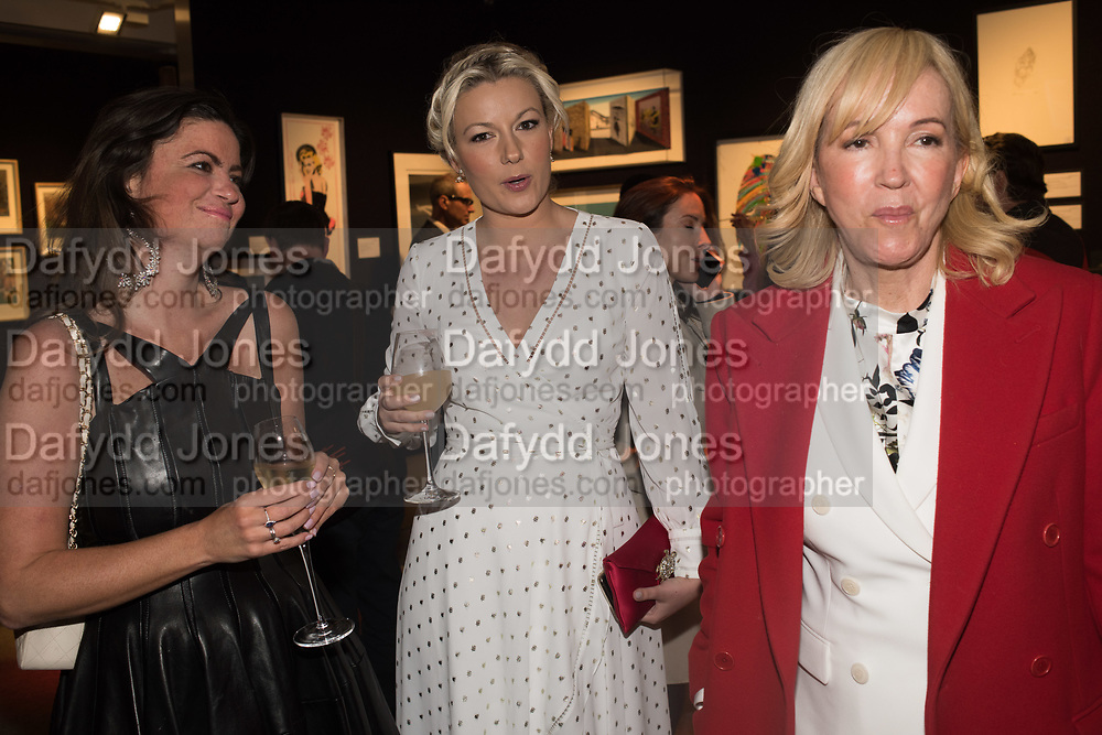 DEBORAH JAMES, NATHALIE RUSHDIE, SALLY GREENE `preview evening  in support of The Eve Appeal, a charity dedicated to protecting women from gynaecological cancers. Bonhams Knightsbridge, Montpelier St. London. 29 April 2019