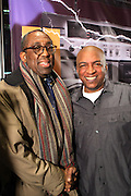 New York, NY-February 5: (L-R) Producer/Photographer Bob Gore and Ralph McDaniels, founder, Video Music Box, attends the Video Music Box 30 Kick-Off Celebration held at The Schomburg Center for Research in Black Culture on February 5, 2013 in the village of Harlem, New York City. Created in 1983 by Ralph McDaniels, Video Music Box is one of the most influential television shows to give urban artists mainstream exposure. The series is the first to feature hip hop videos primarily.  (Terrence Jennings)