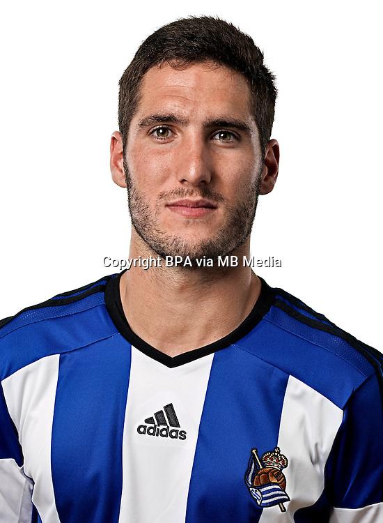 Spain - La Liga BBVA  2014-2015 / <br /> ( Real Sociedad de Futbol ) - <br /> Joseba Zaldua Bengoetxea