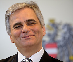24.01.2012, Bundeskanzleramt, Wien, AUT, Bundesregierung, Sitzung des Ministerrats, im Bild Bundeskanzler Werner Faymann grinsend Augen geschlossen // during the council of ministers, Chancellors office, Vienna, 2012-01-24, EXPA Pictures © 2012, PhotoCredit: EXPA/ M. Gruber
