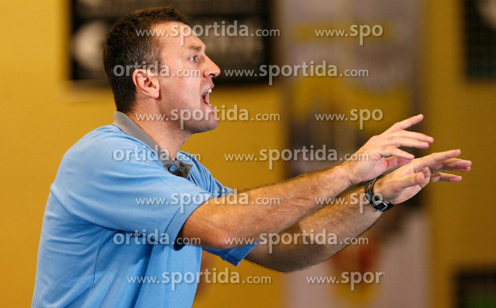 Coach of Gorenje Velenje Ivica Obrvan at handball game RK Gorenje Velenje v Bosna Sarajevo in 3rd round of EHF Championship league, on October 13, 2007 in Velenje, Slovenia. Win of Gorenje Velenje 30:27. (Photo by Vid Ponikvar / Sportal Images)