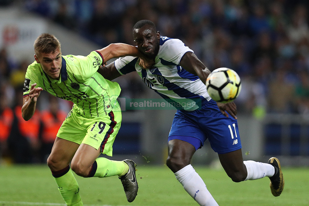 September 9, 2017 - Porto, Porto, Portugal - Porto's Malian forward Moussa Marega (R) vies with Chaves defender Nikola Maras (L) during the Premier League 2017/18 match between FC Porto and GD Chaves, at Dragao Stadium in Porto on September 9, 2017. (Credit Image: © Dpi/NurPhoto via ZUMA Press)