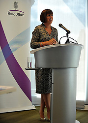 © licensed to London News Pictures. LONDON. UK  14/09/11. Judith Nelson, Personnel Director for Tesco. Home Secretary and Minister for Women and Equalities, Theresa May, launches 'Voluntary Gender Equality Analysis and Reporting' guidance for employers at Eversheds law firm in Central London today (14 Sept 2011). Photo credit should read Stephen SImpson/LNP