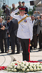 Prince Harry at the Polish Cemetery at Monte Cassino  in Italy as part of the 70th anniversary commemorations of the Battle of Monte Cassino,  Sunday, 18th May 2014. Picture by  i-Images