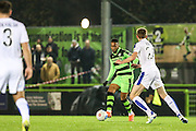 Forest Green Rovers Keanu Marsh-Brown(7) plays a pass during the Vanarama National League match between Forest Green Rovers and Tranmere Rovers at the New Lawn, Forest Green, United Kingdom on 22 November 2016. Photo by Shane Healey.