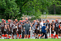 KELOWNA, BC - SEPTEMBER 8:  Okanagan Sun head coach Jamie Boreham stands on the sidelines against the Langley Rams  at the Apple Bowl on September 8, 2019 in Kelowna, Canada. (Photo by Marissa Baecker/Shoot the Breeze)