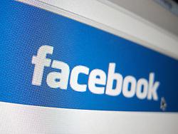 Detail of online social networking website Facebook homepage screen shot