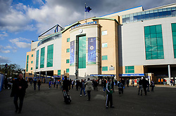 A general view of Stamford Bridge before the match - Photo mandatory by-line: Rogan Thomson/JMP - 07966 386802 - 08/04/2014 - SPORT - FOOTBALL - Stamford Bridge, London - Chelsea v Paris Saint-Germain - UEFA Champions League Quarter-Final Second Leg.