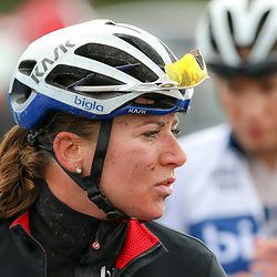 TIEL (NED) wielrennen<br /> De derde etappe was rond Tiel en ging door de Betuwe. Het was een zware natte dag voor Annemiek van Vleuten