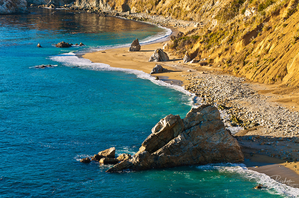 Rocks and beach, Julia Pfeiffer Burns State Park, Big Sur, California