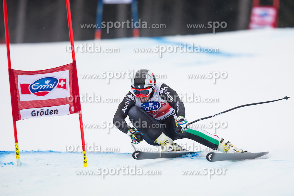20.12.2013, Saslong, Groeden, ITA, FIS Ski Weltcup, Groeden, Abfahrt, Herren, SuperG, im Bild Silvano Varettoni (ITA) // Silvano Varettoni of Italy in action during mens Super-G of the Groeden FIS Ski Alpine World Cup at the Saslong Course in Gardena, Italy on 2012/12/20. EXPA Pictures © 2013, PhotoCredit: EXPA/ Johann Groder
