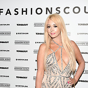 Jodie Weston is a Actress, Model, Dancer, DJ attend the Fashion Scout - SS19 - London Fashion Week - Day 1, London, UK. 14 September 2018.