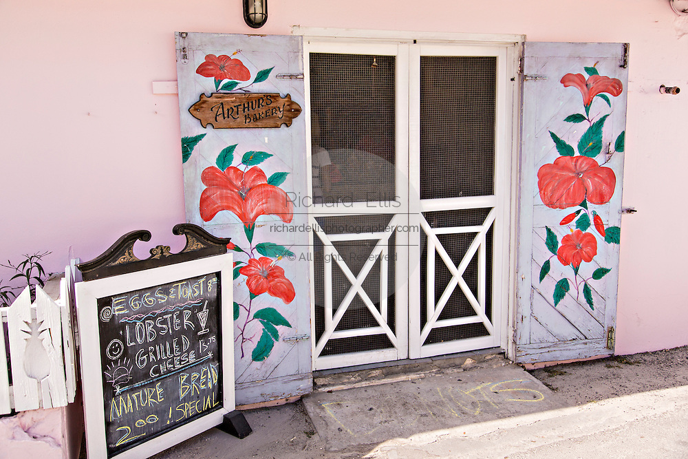 Local landmark Arthurs Bakery in Dunmore Town, Harbour Island, The Bahamas