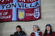 Aston Villa fans during the second round or the Carabao EFL Cup match between Burton Albion and Aston Villa at the Pirelli Stadium, Burton upon Trent, England on 28 August 2018.