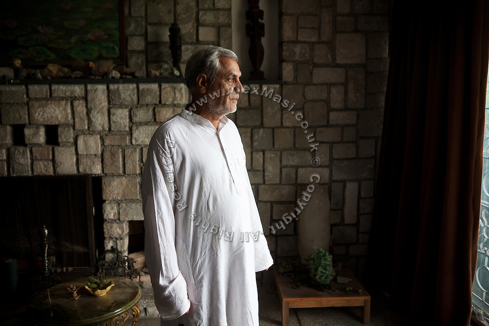 M. C. Mehta, the famous Indian environmental lawyer, is standing in his home in Dehradun, a hill station in the northern state of Uttarakhand where he has also opened an ashram and study centre.