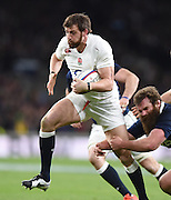 Twickenham, Great Britain,  Tom WOOD running with the ball, during the Six Nations Rugby England vs Scotland, played at the RFU Stadium, Twickenham, ENGLAND. Saturday 14/03/2015<br /> <br /> [Mandatory Credit; Peter Spurrier/Intersport-images]