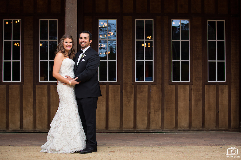 Kristin and Robert Hernandez celebrate their wedding at Roaring Camp Railroads in Felton, California, on September 27, 2014. (Stan Olszewski/SOSKIphoto)<br /> <br /> To learn more about SOSKIphoto's Wedding Collections, Engagement Sessions, and availability, please contact us at info@soskiphoto.com.<br /> <br /> Want to be the first to know when the full selection of Kristin and Robert&rsquo;s wedding photos are ready to view? Fill out this quick survey and we&rsquo;ll notify you &ndash; http://svy.mk/Z3MizF