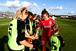 Hayley Ladd of Bristol City Women shakes hands with Chelsea Ladies FC and the mascots - Mandatory by-line: Robbie Stephenson/JMP - 31/05/2017 - FOOTBALL - Stoke Gifford Stadium - Bristol, England - Bristol City Women v Chelsea Ladies - FA Women's Super League Spring Series