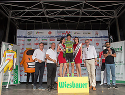 08.07.2017, Wels, AUT, Ö-Tour, Österreich Radrundfahrt 2017, Siegerehrung, im Bild Sep Vanmarcke (BEL, Cannondale-Drapac Pro Cycling Team) Gewinner Punktewertung // Sep Vanmarcke of Belgium (Cannondale Drapac Professional Cycling Team) winner points classification on Podium during winner ceremony for 2017 Tour of Austria. Wels, Austria on 2017/07/08. EXPA Pictures © 2017, PhotoCredit: EXPA/ Reinhard Eisenbauer