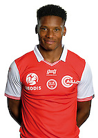 Julian Jeanvier of Reims during the photocall of Reims for new season of Ligue 2 on September 29th 2016 in Reims<br /> Photo : Stade de Reims / Icon Sport