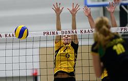 25-10-2014 NED: Prima Donna Kaas Huizen - SV Dynamo Apeldoorn, Huizen<br /> Apeldoorn pakt de drie punten door Huizen met 3-0 te verslaan / Lisette van de Kemp
