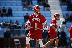 CHAPEL HILL, NC - MARCH 02: Jon Ober #01 of the Denver Pioneers during a game against the North Carolina Tar Heels on March 02, 2019 at the UNC Lacrosse and Soccer Stadium in Chapel Hill, North Carolina. Denver won 12-10. (Photo by Peyton Williams/US Lacrosse)