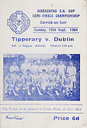 Oireachtas Hurling Semi-Final. Tipperary v Dublin. Carrick-on-Suir. 13th September 1964. 13.09.1964