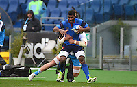 Noa NAKAITACI / Sergio PARISSE - 15.03.2015 - Rugby - Italie / France - Tournoi des VI Nations -Rome<br /> Photo : David Winter / Icon Sport