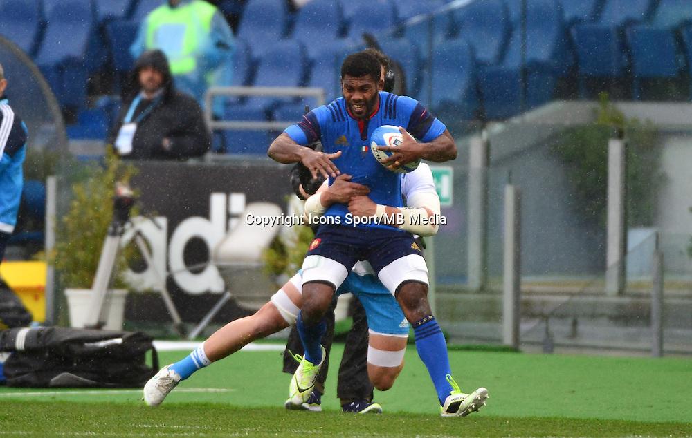 Noa NAKAITACI / Sergio PARISSE - 15.03.2015 - Rugby - Italie / France - Tournoi des VI Nations -Rome<br /> Photo : David Winter / Icon Sport