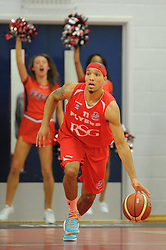 Bristol Flyers' Greg Streete dribbles the ball - Photo mandatory by-line: Paul Knight/JMP - Mobile: 07966 386802 - 15/11/2014 - SPORT - Football - Bristol - SGS Wise Arena - Bristol Flyers v Cheshire Phoenix - Bristol Basketball League