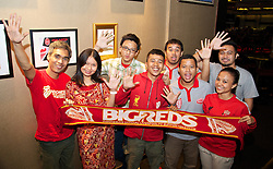 JAKARTA, INDONESIA - Tuesday, July 16, 2013: Big Reds… Indonesian Liverpool supporters. (Pic by David Rawcliffe/Propaganda)