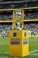 The Aviva Premiership trophy seen before the Aviva Premiership final at Twickenham Stadium, Twickenham<br /> Picture by Andrew Tobin/Focus Images Ltd +44 7710 761829<br /> 31/05/2014