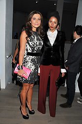 Left to right, ELLA KRASNER and ANA ARAUJO at Arts for Human Rights gala dinner in aid of The Bianca Jagger Human Rights Foundation in association with Swarovski held at Phillips de Pury & Company, Howick Place, London on 13th October 2011.
