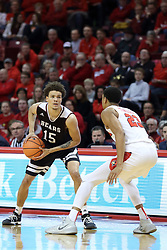 07 January 2018:  William Tinsley defends Jarrid Rhodes during a College mens basketball game between the Missouri State Bears and Illinois State Redbirds in Redbird Arena, Normal IL