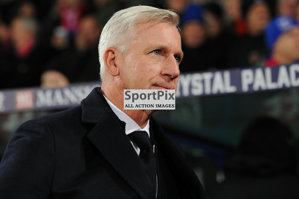 Crystal Palaces manager Alan Pardew before the Crystal Palaces clash with Sunderland in the Barclays Premier League at Selhurst Park